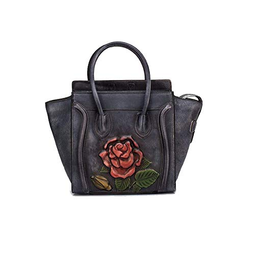 Sac Rose Rétro De Chinois Mode Style Main Sac Style AJLBT Black Dames Fait Main Simple à 6dIzq