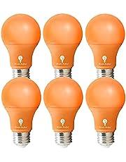 6 Pack BlueX LED A19 Light Bulb - 9W (60Watt Equivalent) - E26 Base LED Bulb, Party Decoration, Porch, Home Lighting, Holiday Lighting, Decorative Illumination