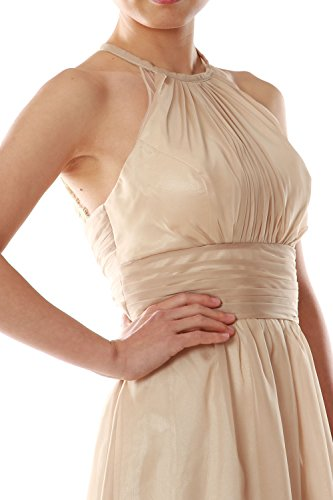 Dress Halter Evening Chiffon Long Gown Women Wedding Silber Party Bridesmaid MACloth wXBqS5xx6