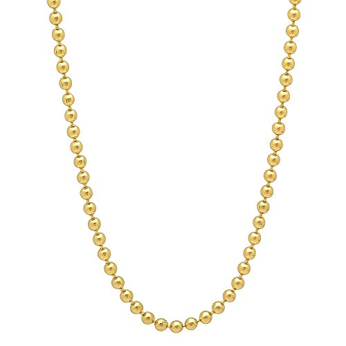 2.3mm 14k Gold Plated Ball Chain Necklace, 20