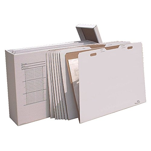 (Vertical Flat File System Filing Box (Set of 8) Size: 34