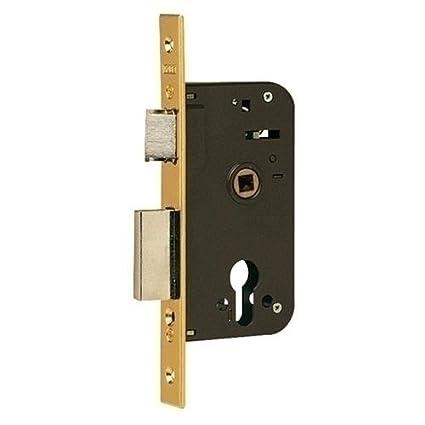 Yale 60080503030NM2 Cerradura de embutir estándar para puertas de madera 600, X=80,