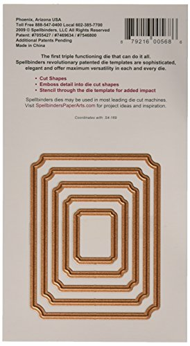 Spellbinders S4-168 Nestabilities Large Labels Die Template Nestabilities Card