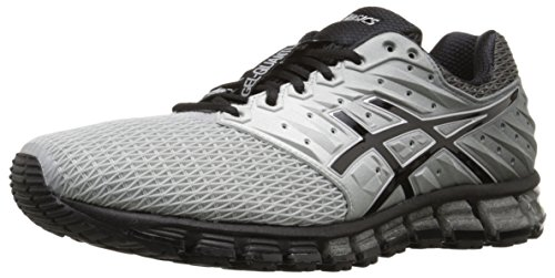 ASICS Men's Gel-Quantum 180 2 running Shoe, Mid Grey/Black/Silver, 8 M US