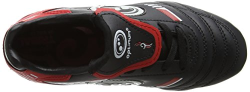 Optimum 6 Stud Tribal Lace Up, Botas de Fútbol para Niños Red (Black/Red)