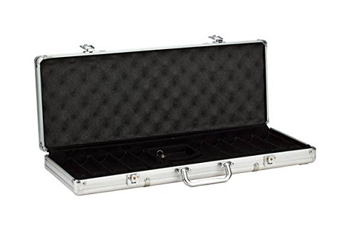 CHH Imports 500 Chip Aluminum Poker Case (Aluminum Poker Chip Case Holds)
