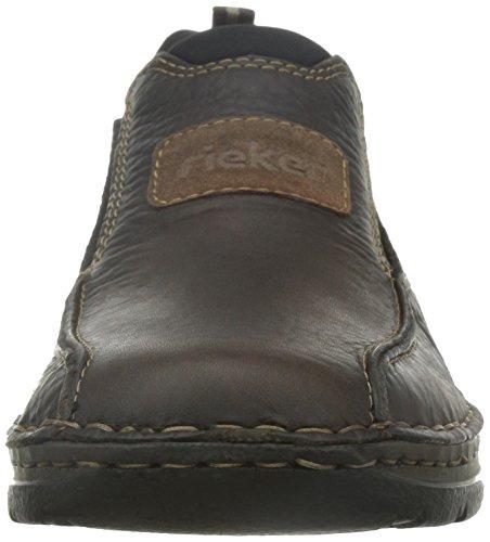 Para Rieker Casual Zapatos Cuero 05363 Hombre 25 Marrón De aRPArRxYW7