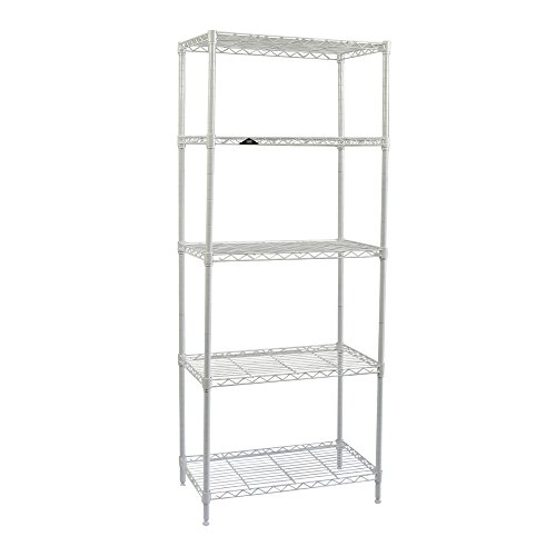 Apollo Hardware White 5-Shelf Wire Shelving 14''x24''x60'' (White) by Apollo Hardware