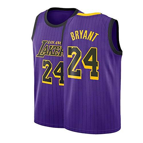 Kobe Bryant Usa Basketball Jersey - Men's Bryant Jersey 24 Los Angeles Basketball City Adult Kobe Sizes Purple (XX-Large)