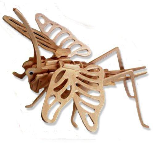【格安saleスタート】 3-D Wooden Item Puzzle - Grasshopper DCHI-WPZ-E027 -Affordable Gift for 3-D your Little One Item DCHI-WPZ-E027 B004QDVFEC, 韮山町:919deaf4 --- quiltersinfo.yarnslave.com