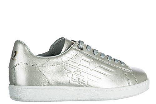 Emporio Armani EA7 Damenschuhe Turnschuhe Damen Leder Schuhe Sneakers Classic Gr