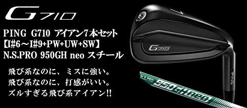 PING(ピン) G710 アイアン7本セット [番手:I#6~I#9+PW+UW+SW] N.S.PRO 950GH neo スチールシャフト メンズゴルフクラブ 右利き用