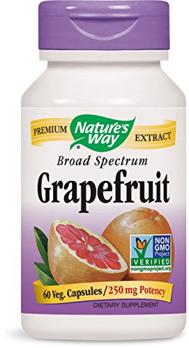 - Nature's Way Grapefruit Seed, 250mg, 60 Vcaps