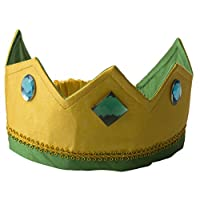 Corona de seda reversible de sedas de Sarah - Dorado /Verde