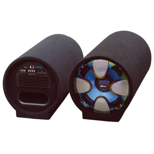 Amplified Subwoofer Tube System - PYLE PLTAB8 8-Inch 250 Watt Amplified Subwoofer Tube