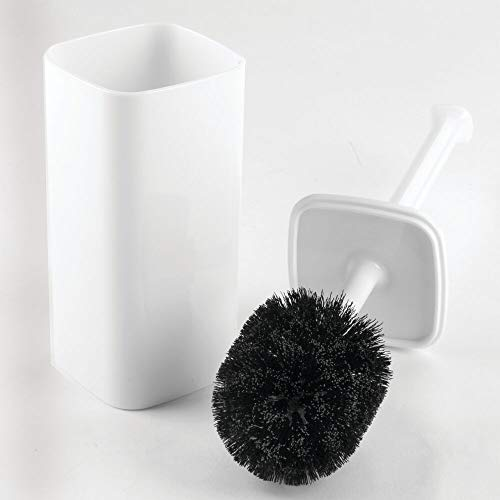 Vonotek Toilet Brush Holder Stainless Steel Toilet Bowl Brush for Cleaning Toilet Brush and Holder Long Brush Easy Storage Soft Silicone Bristles Toilet Scrubber with Caddy Toilet Bowl