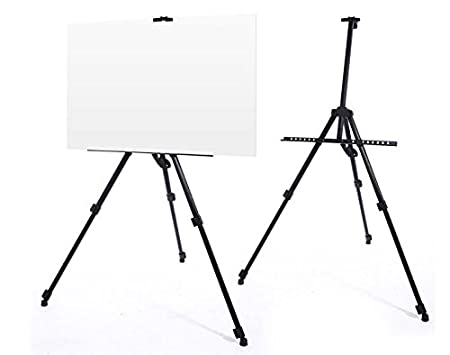 artist telescopic field easel painting stand display professional
