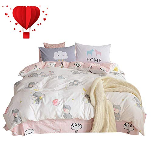 Used, BuLuTu 100% Cotton Elephant Rabbit Print Kids Bedding for sale  Delivered anywhere in USA