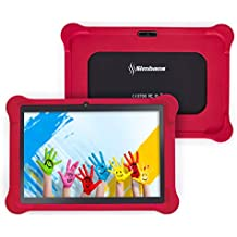 [4 Bonus Item] Simbans TangoTab 10 Inch Kids Tablet PC with Red Case | Parental Lock and Educational Apps for Age 3 to 8 | 2GB RAM, 32GB Disk, Android 7.0 Nougat, WiFi, USB, HDMI, Bluetooth