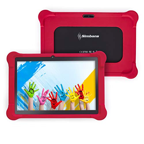 [4 Bonus Item] Simbans TangoTab 10 Inch Kids Tablet with RED Bumper Case | 2GB RAM, 32GB Disk, Android 8.1 Oreo | WiFi, USB, HDMI, Bluetooth | IPS Screen, Quad Core CPU, 2+5 MP Camera Computer PC