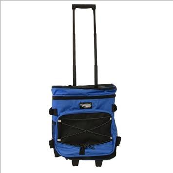 Nevera con carro para la compra, playa, picnic - 25 l negro y azul - 32 x 23,5 x 44 cm: Amazon.es: Deportes y aire libre