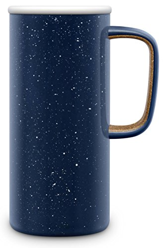 Ello Campy Vacuum Insulated Stainless Steel Water Bottle with Slider Lid, 16 oz, Navy