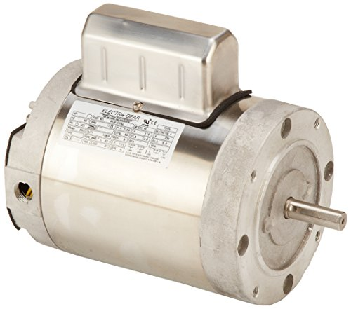 Leeson 6439191262 Boat Hoist Motor, 1 Phase, 56C Frame, C Face Mounting, 1HP, 1800 RPM, 115/208-230V Voltage, 60Hz Fequency by Leeson