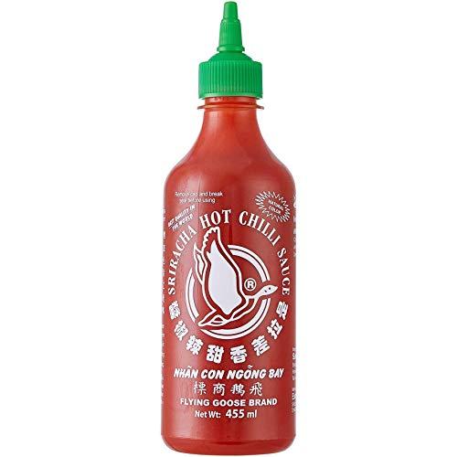 Flying Goose Sriracha Hot Chilli Sauce 455ml, een van de meest populaire sausmerken in Thailand