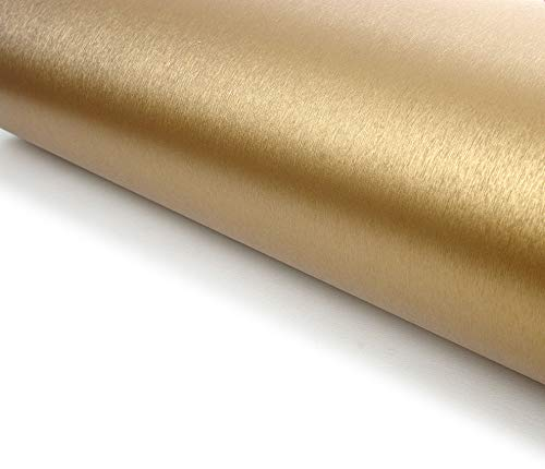 Brushed Metal Texture Contact Paper Film Vinyl Self Adhesive Peel-stick Removable ()
