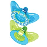 The First Years Gumdrop Pacifier, 6-18 Months, Blue/Green, 2 Count