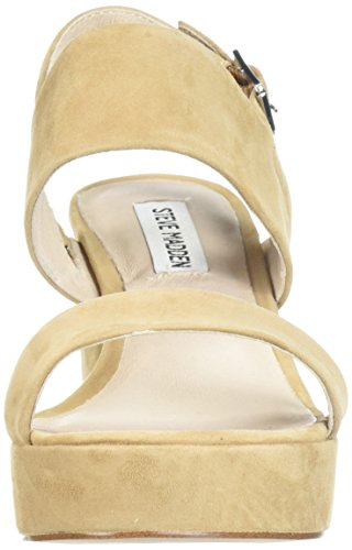 Steve Madden Women's Reba Heeled Sandal Tan Suede limited edition really for sale great deals cheap 100% original cheap sale buy OUhxQ2Q09N