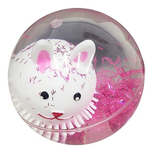 Ganz Blinking Light Up Bouncing Balls for Kids ~ Floating Unicorn or Glitter Bunny Inside (Glitter Bunny)