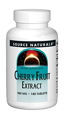 Source Naturals Cherry Fruit Extract 500mg - 180 Tablets - 500 Mg Cherry