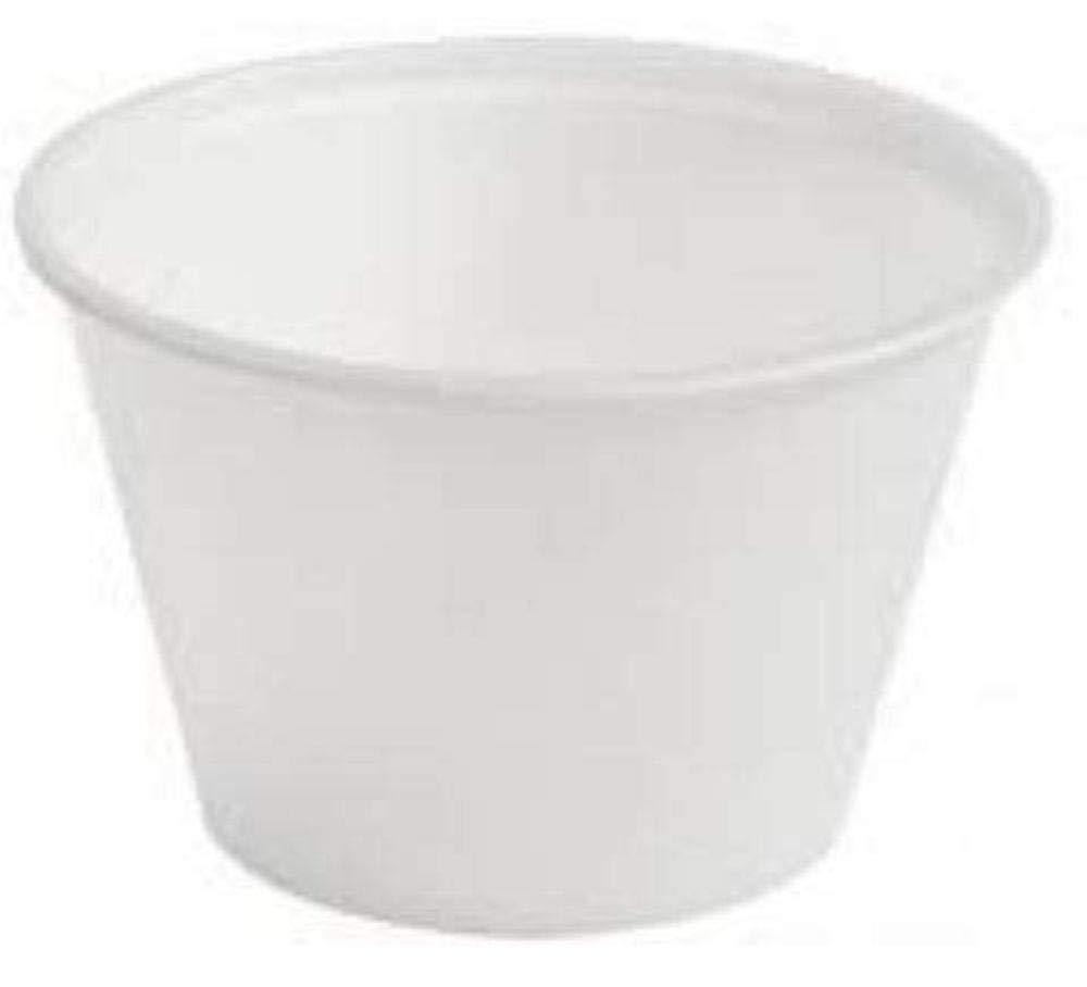 PTT OPAQUE Coppette per gelato//dessert con coperchio e cucchiaini da 150/ml confezione da 50