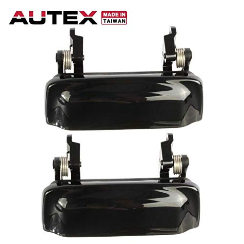 AUTEX Door Handles 2pcs Exterior Front/Rear Left Right Driver Passenger Side Compatible with Ford Explorer,Mercury Mountaineer 98-01 Replacement for Ford Explorer Sport Trac 2001-2005 79102