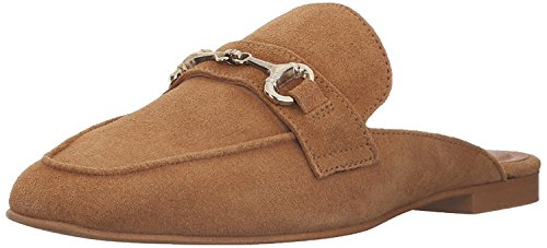 STEVEN by Steve Madden Women's Razzi Slip-on Loafer, Camel Suede, 8 M (Steven Suede Wedges)