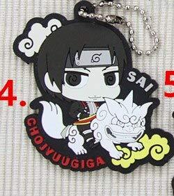 - VIETCJ Sakura Kakashi Sasuke Anime Rubber 3Rd Ver Rubber Keychain- Legends Gifts Movies Comic Toys Collection