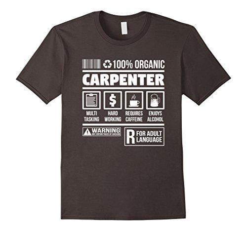 Mens Carpenter Ingredients | Funny Novelty Carpenters T-Shirt  XL (Carpenter Mens T-shirt)