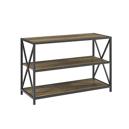 WE Furniture Wood Media Bookshelf in Rustic Oak - 40