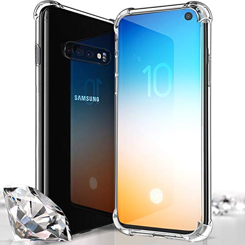 Bangbreak Samsung Galaxy S10 Case Protective Tpu Galaxy S10 Cover Ultra Lightweight Anti Scratch Reinforced Corner Protection Bumper Case For Galaxy S10 2019 Crystal Clear