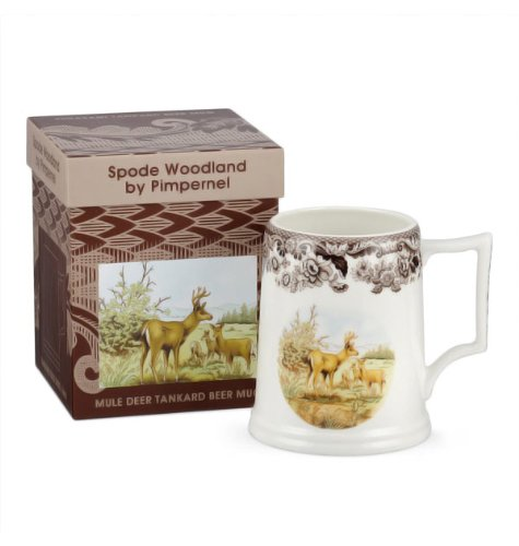 Mule-Deer-Tankard-16-Oz-Beer-Glass