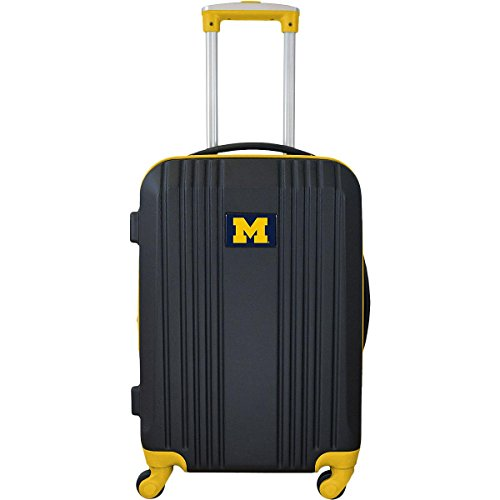 Denco NCAA Michigan Wolverines Round-Tripper Two-Tone Hardcase Luggage Spinner from Denco