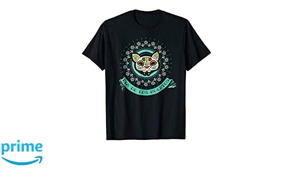 Amazon.com: Dia De Los Muertos Cat Shirt La Catrina Calavera T-Shirt: Clothing