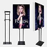 1 pc,Double-Sided Poster Stand Banner Stand for Board & Foam Sign Floorstanding Sign Holder,Height Adjustalbe Up to 73 inches Banner Holder (Stand only)