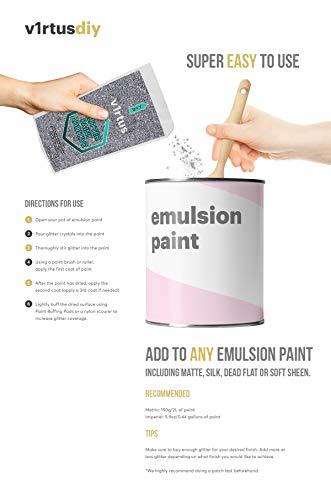 V1RTUS Silver Glitter Paint Crystal Additive 100g/3 5oz for