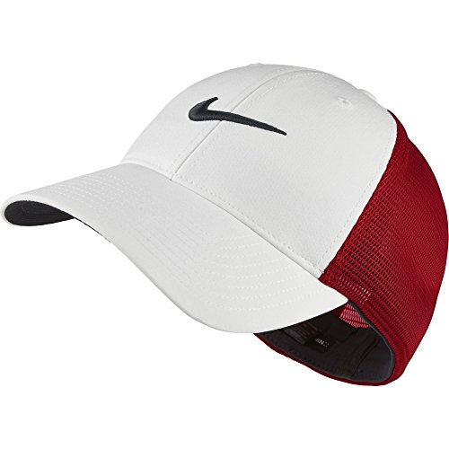 Nike Golf CLOSEOUT Legacy 91 Tour Mesh Fitted Hat UNIVERSITY RED/WHT 727031-657 (M/L)