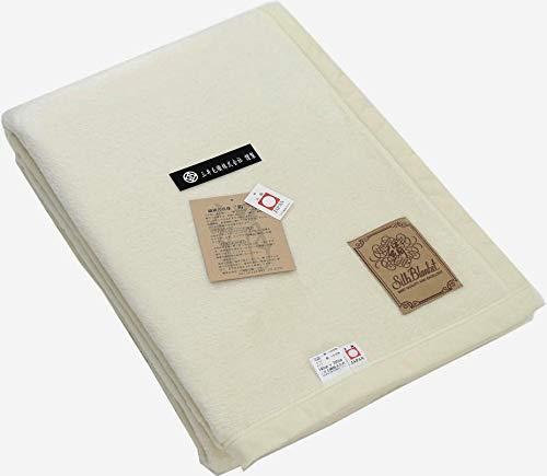 公式三井毛織 国産 スペシャル 家蚕 シルク毛布 (毛羽部) シングルサイズ 140x200cm ホワイト B0768QRMPS