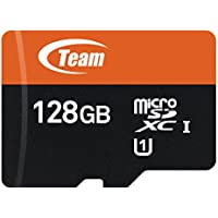 Team TUSDX128GUHS03 128GB UHS-I / Class 10 533x microSDXC Memory Card with Adapter