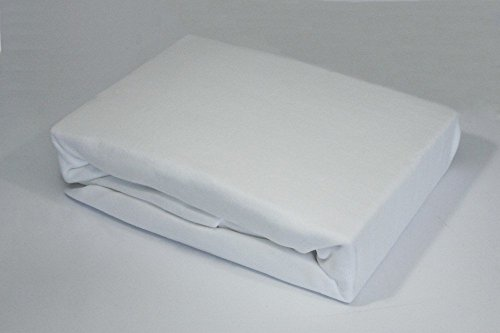 Winter Fleece Spannbettlaken Topper Boxspring 180x200 - 200x200 Spannlaken Laken, Farbe:WEISS