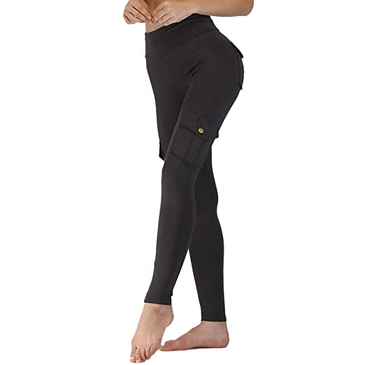 Watkings 2019 New Women Elastic Yoga Leggings Bamboo Fiber ...
